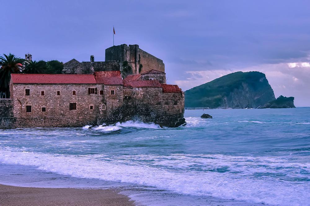 Photo in Landscape #budva castle montenegro #old cıty