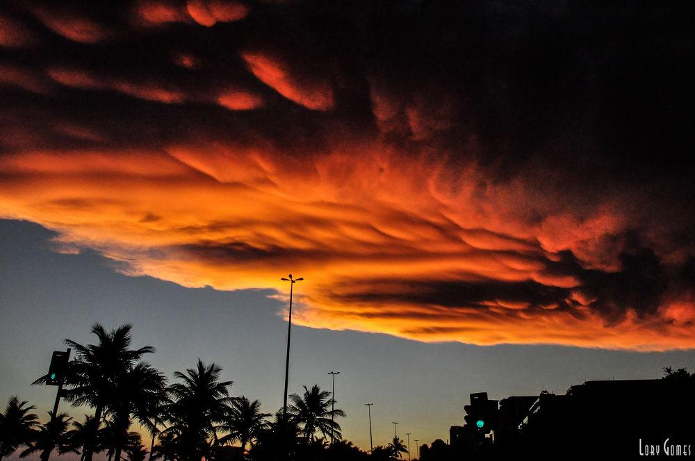 Photo in Nature #cloud #fim de tarde #paisagem #bucólico #barra da tijuca #rio de janeiro #cidade maravilhosa #anoitecer #night #sky