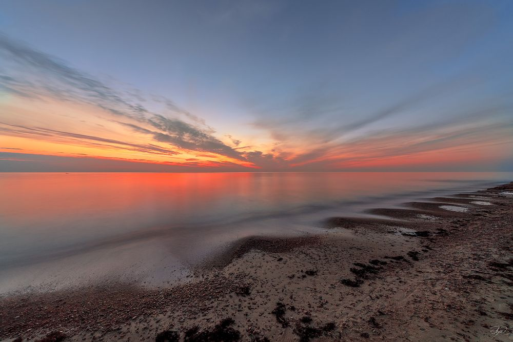 Photo in Sea and Sand #sunset #colors #long exposure #sand #sea #baltic sea #lithuania #sky #clouds