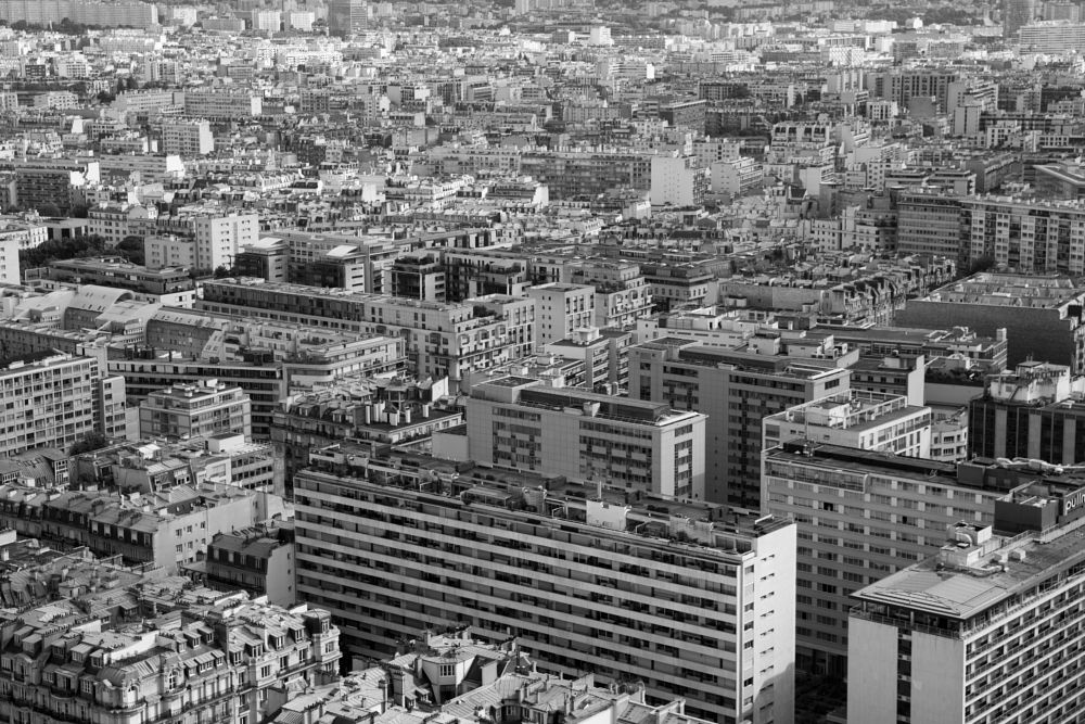 Photo in Cityscape #city #paris #top view #sleeping quarters #black and white #urban landscape #urban #architecture