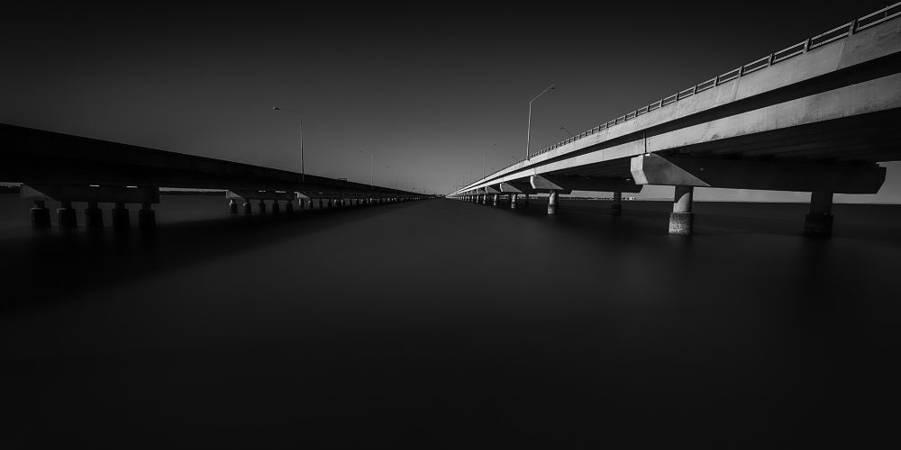 Photo in Random #bridge #transport #travel #urban #city #ocean #sea #marine #driving #road #street