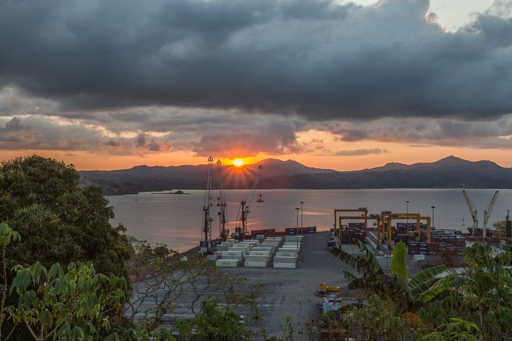 Photo in Industrial #sunset #mayotte #longoni #port
