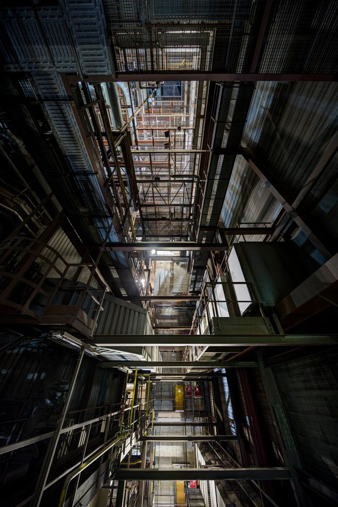 Photo in Industrial #urbex #urban #exploration #found #inside #architectual #building #factory #industry #industrial #dark #light #up #high #climbing #hdr #canon #travel
