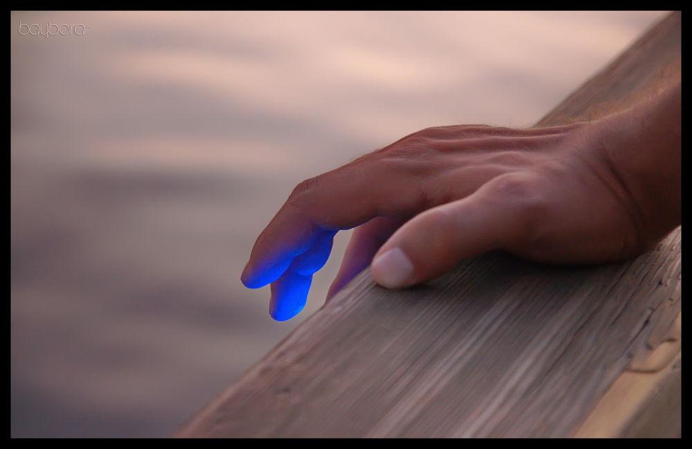 Photo in Random #hand #blue light