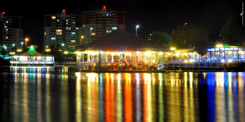 Photo in Random #long exposre #night shot #lake #light
