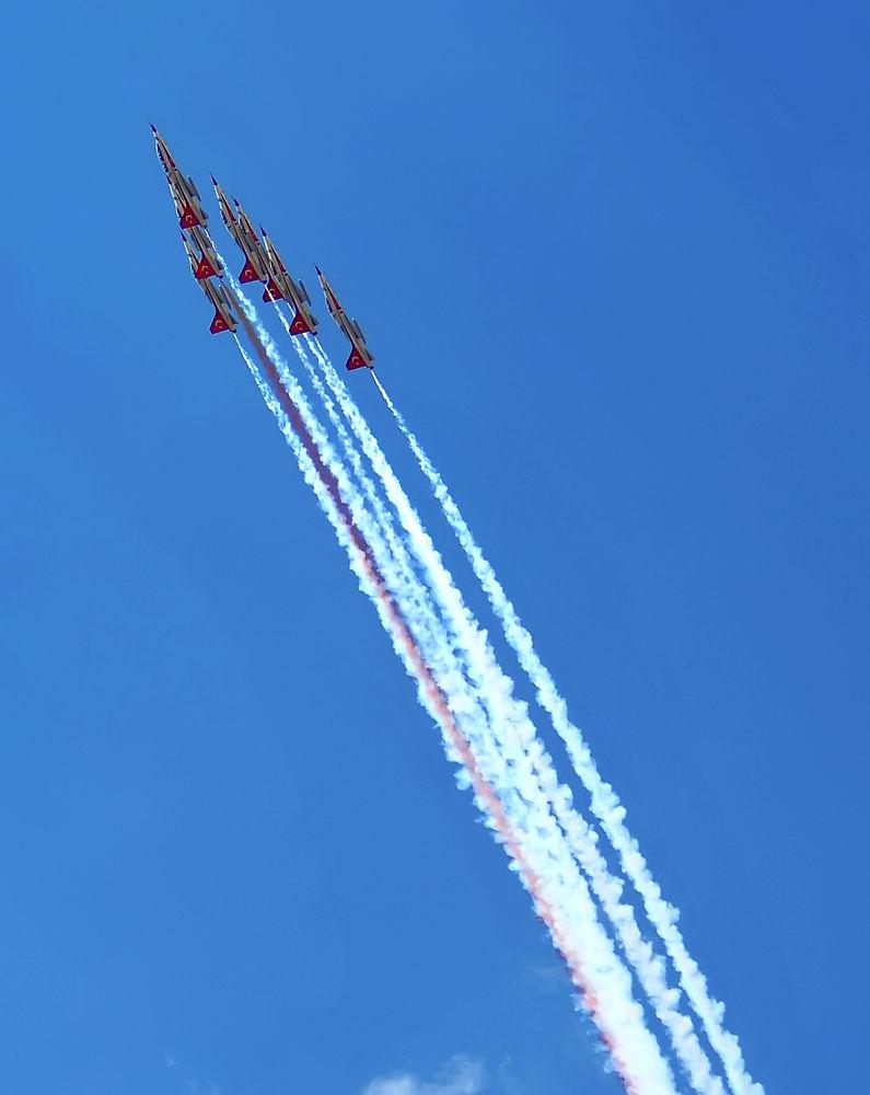 Photo in Random #turkish stars #acro team #flight #air show