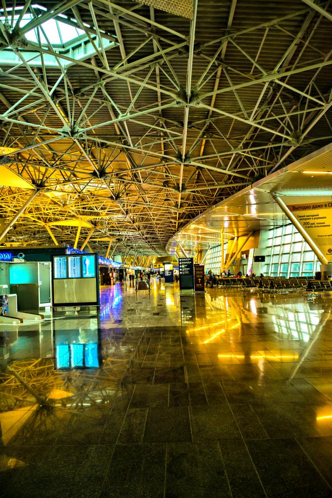 Photo in Architecture #nikonphotography #nikon #d7100 #wide #wideangle #hdr #russia #moscow #airport #architecture #interior