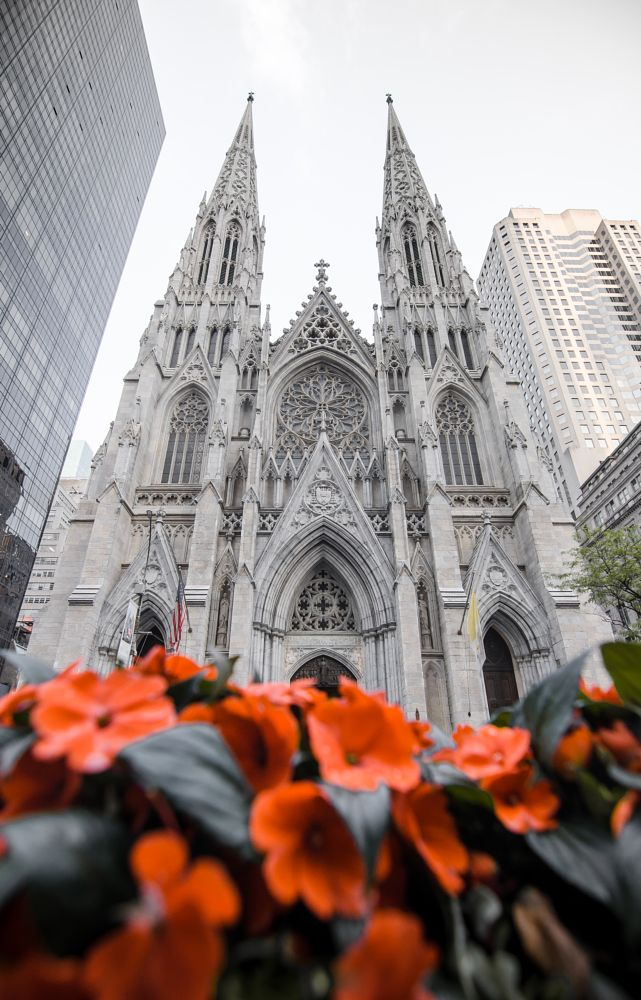 Photo in Architecture #stpatrickscathedral #cathedral #church #st patricks cathedral #new york #newyork #nyc #new york city #newyorkcity #architecture #design #religion #religious #street #urban #street photography #streetphotography #mood #moody #travel #manhattan #history