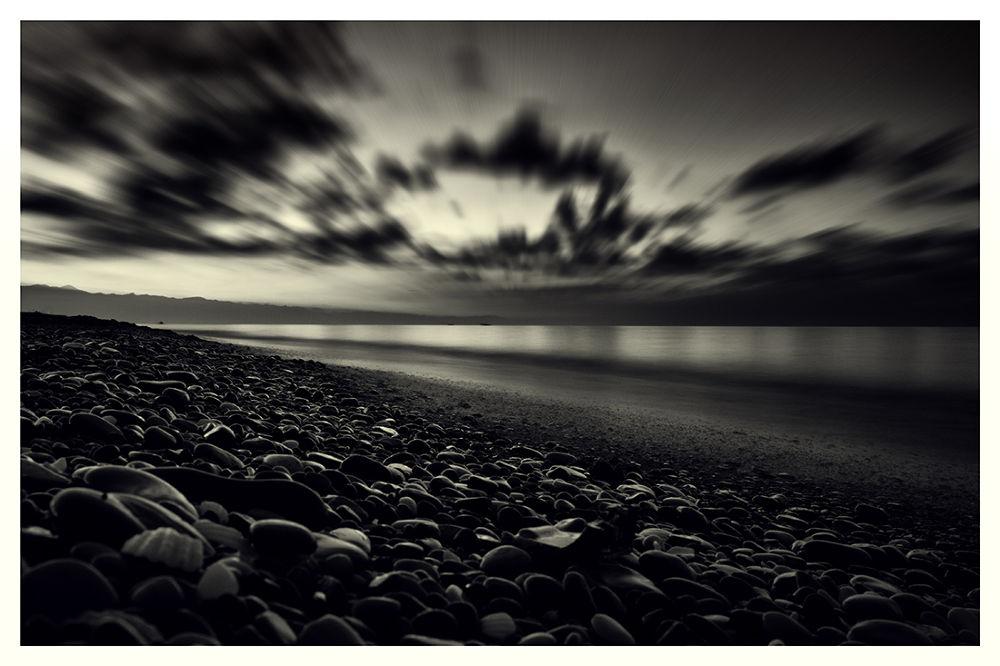 Photo in Landscape #black #sky #sea #caspian #sunset