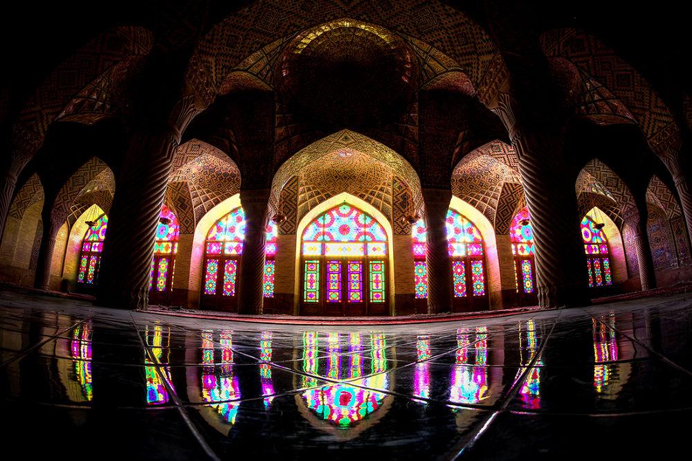 Photo in Architecture #shiraz #iran #mosque #colors #reflection