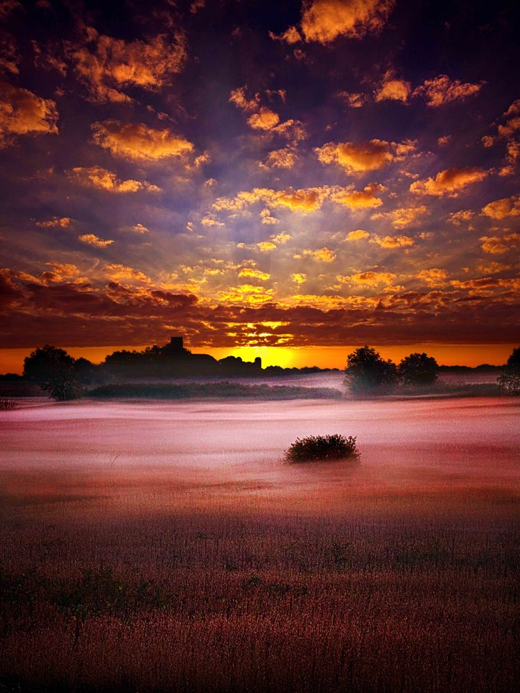 Photo in Random #mist #fog #landscape #twilight #sky #wisconsin #clouds