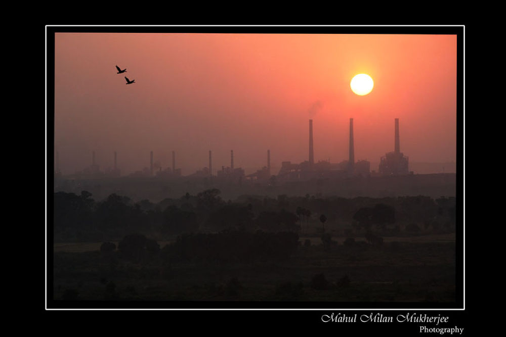 Photo in Industrial #industrial #colour #sun set #photo #photography
