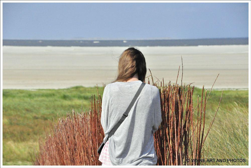 Photo in Landscape #sea sand girl