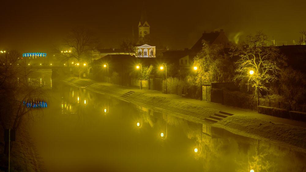 Photo in Random #life #night #city #town #river
