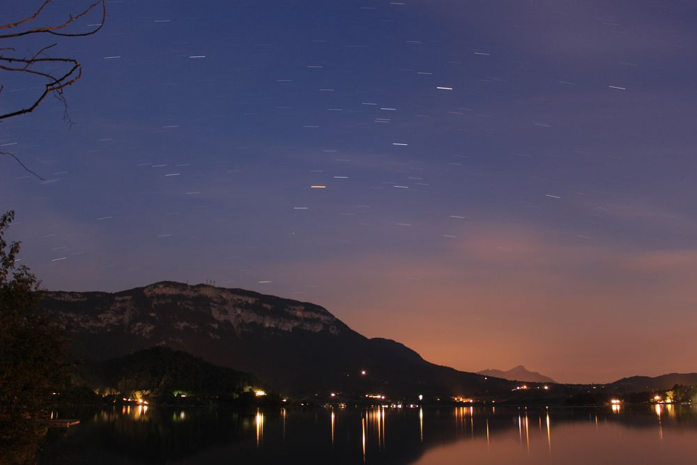Photo in Landscape #canon #lac #lake #lac d'aiguebelette #nuit #savoie #france #eurpoe