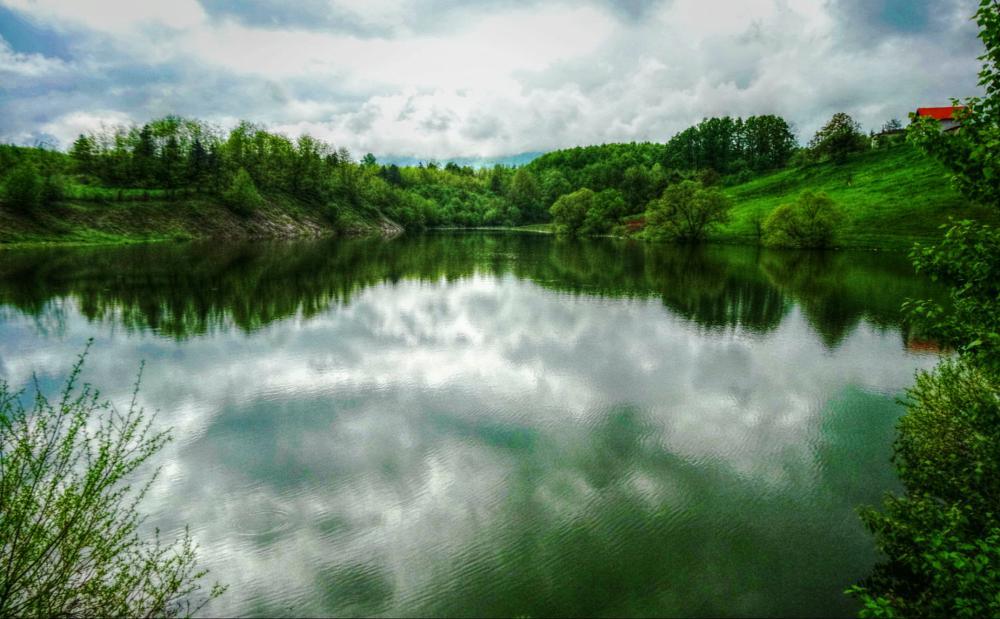 Photo in Landscape #natural #lake #landscape #water #green