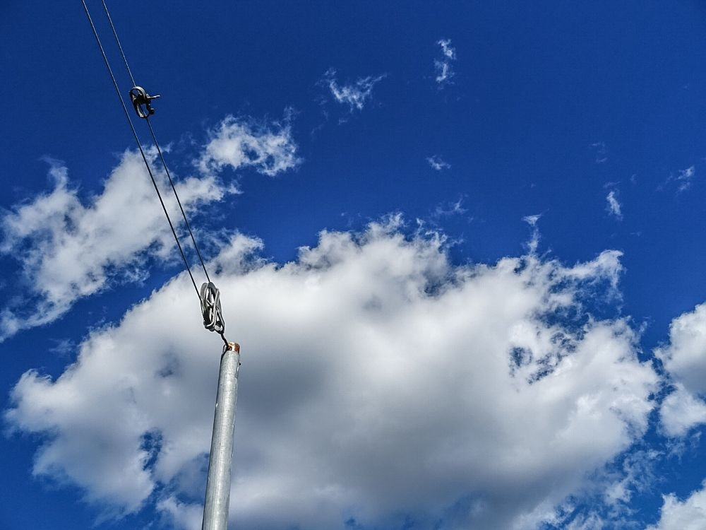 Photo in Random #cloud #sky #blue #pole