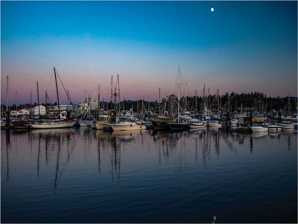 Photo in Random #boats #moon #marina