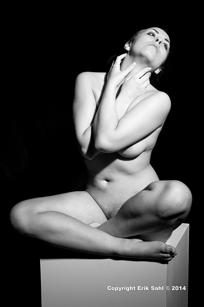 Photo in Nude #nude podium black and white