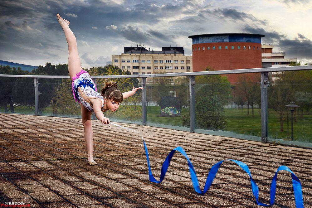 Photo in Sports #girl #street #beautiful #city #ritmic #sports