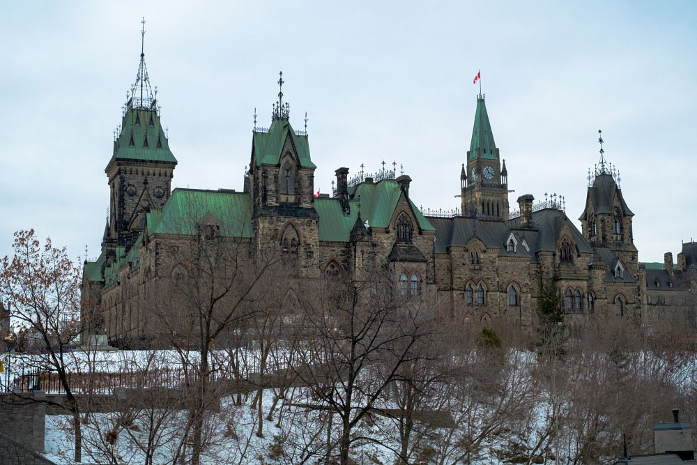 Photo in Architecture #canada #parliament #government #ottawa #hill #rock #castle #gothic #architecture #city #cityscape #winter #january #travel #green #roof #monumental #architectural