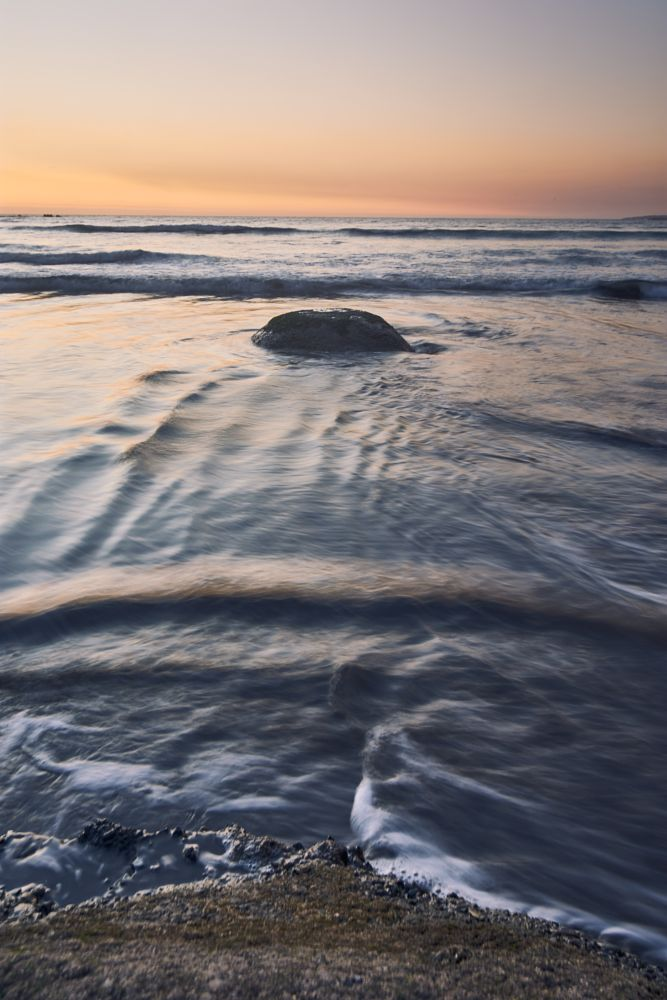 Photo in Sea and Sand #sea #beach #sunset #chile #rock #waves #water #ocea