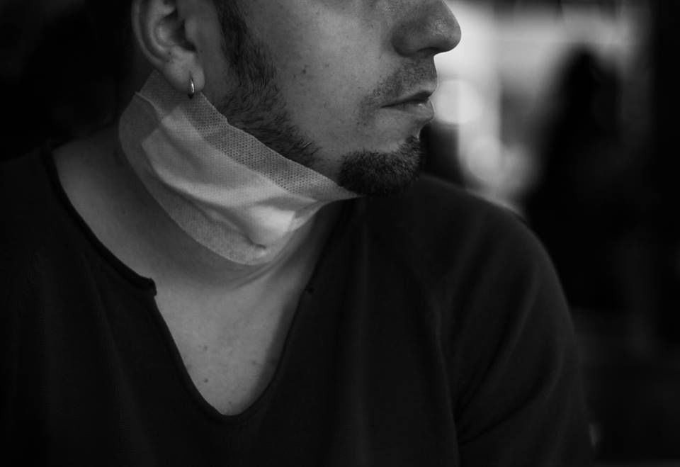Photo in Random #selfportrait #hurt #black #wound