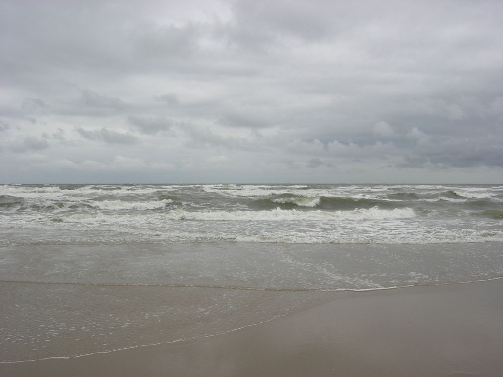 Photo in Sea and Sand #sea #sand #wind #horizon #beach #holland #egmond