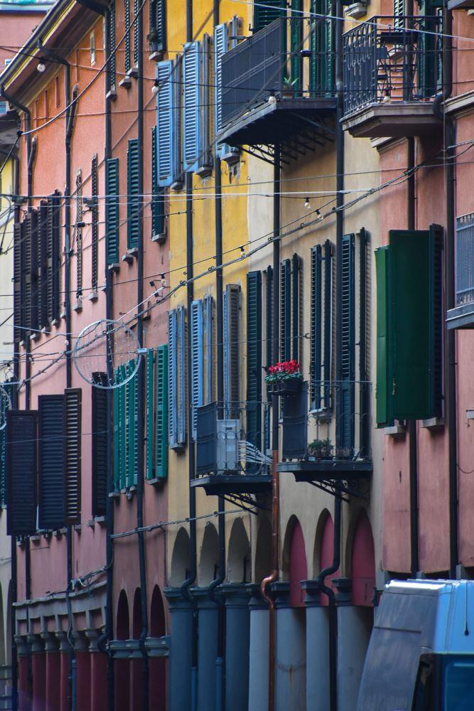 Photo in Architecture #bologna #italy #windows #colors #urban