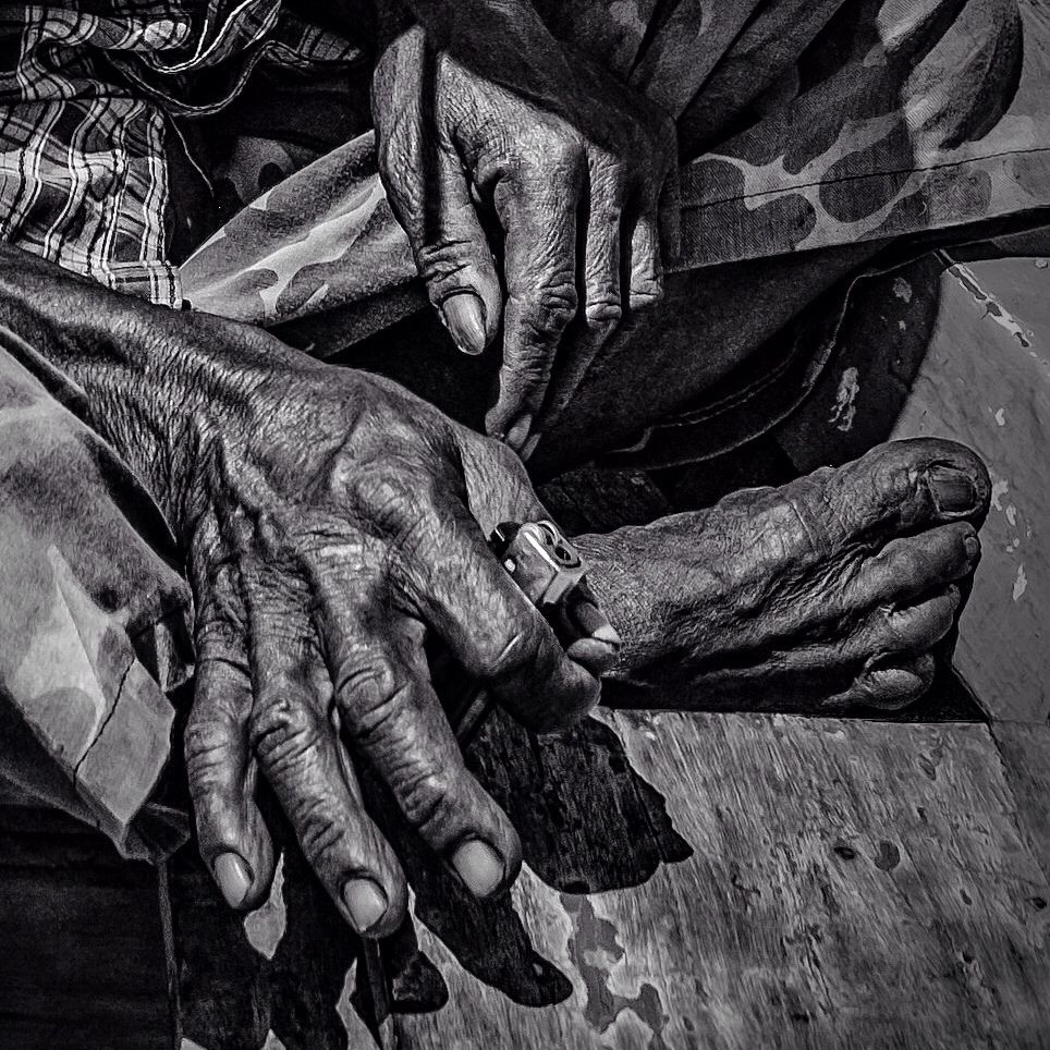 Photo in Street Photography #black and white #hands #feet #monochrome #street #travel #places #jakarta #indonesia