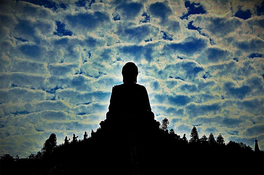 Photo in Random #buddha #hongkong #religious #sillhoette