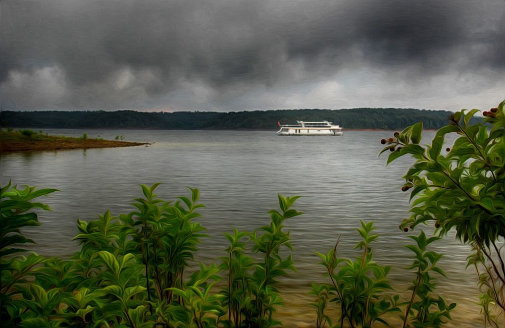 Photo in Fine Art #water #ship #nature #storm clouds