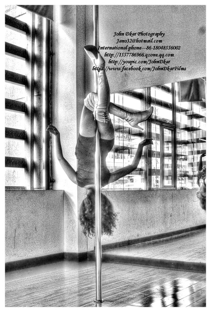 Photo in HDRI #suining #sichuan #china #pole dancer #hdr #johndkar