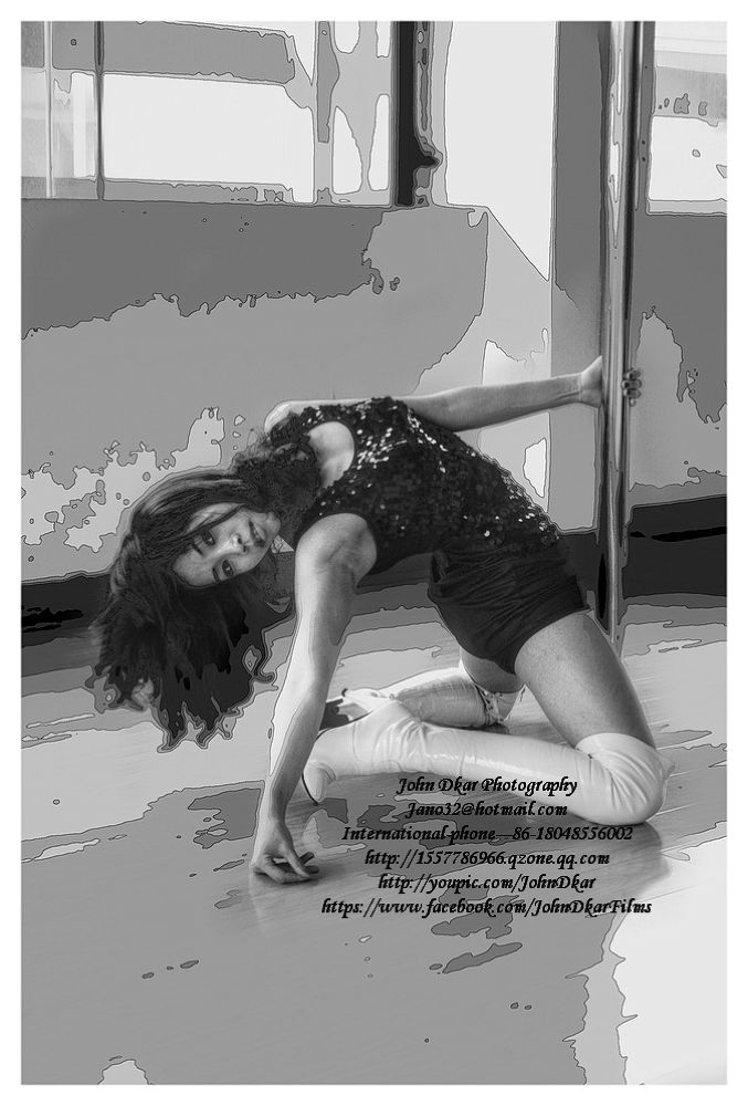 Photo in HDRI #suining #sichuan #china #pole dance #teacher #gym #johndkar