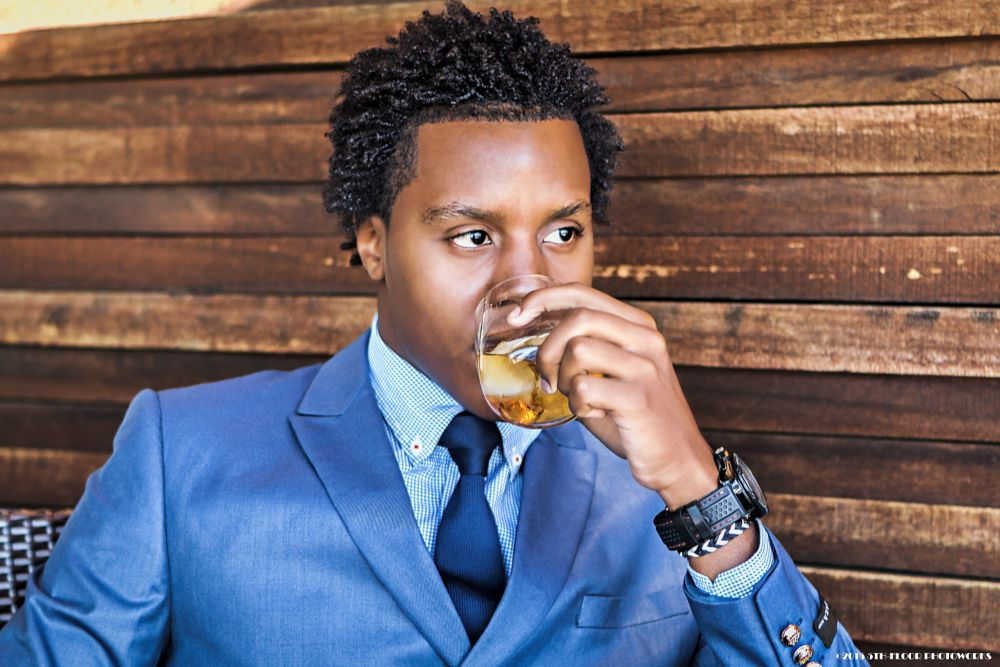 Photo in Fashion #chivas regal #whiskey #suit #male #handsome #blue suit #wooden texture #african