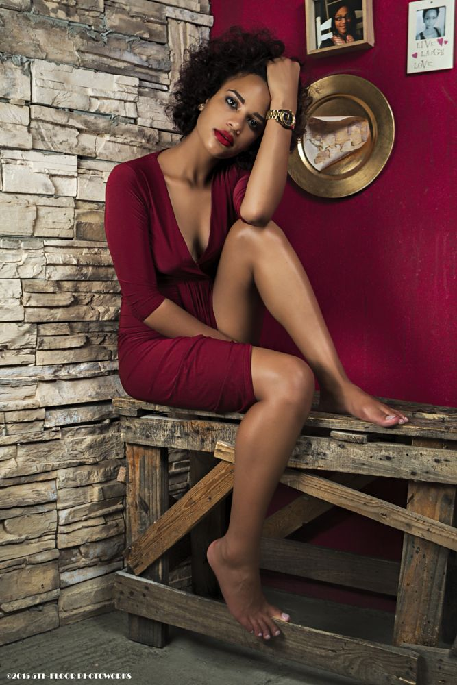 Photo in Fashion #red #woman #sexy #red dress #tan #african #red lips