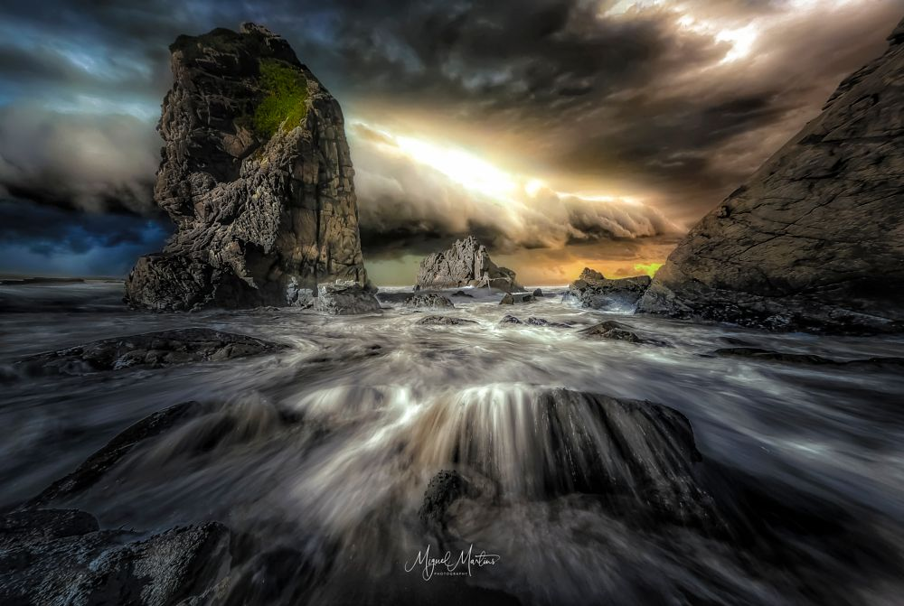 Photo in Landscape #nature  beach  sunset  rock