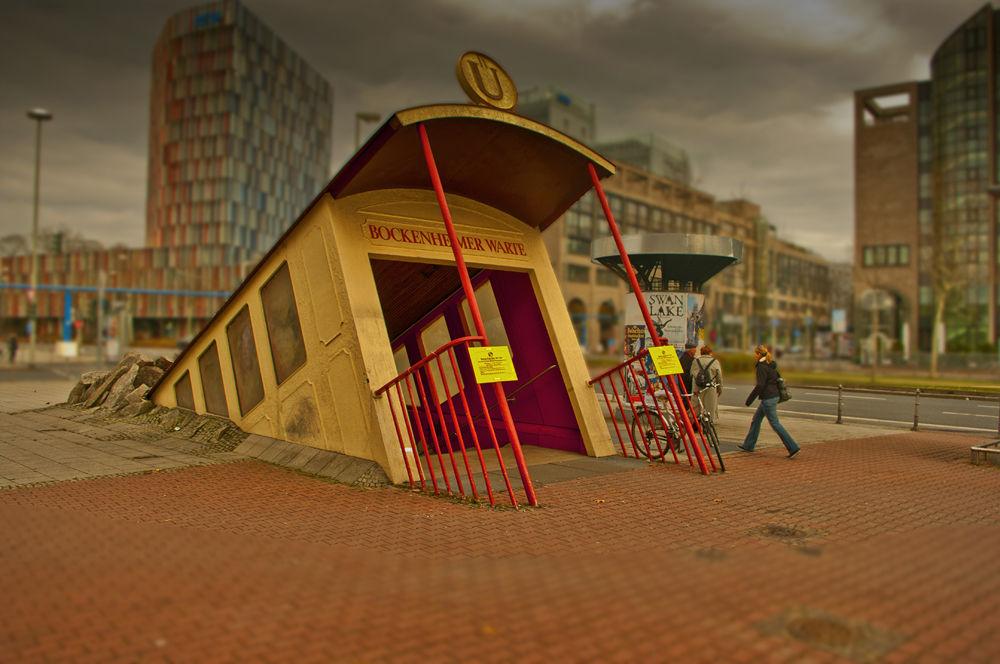 Photo in Random #metrô #frankfurt am main #frankfurt #u bahn #enter