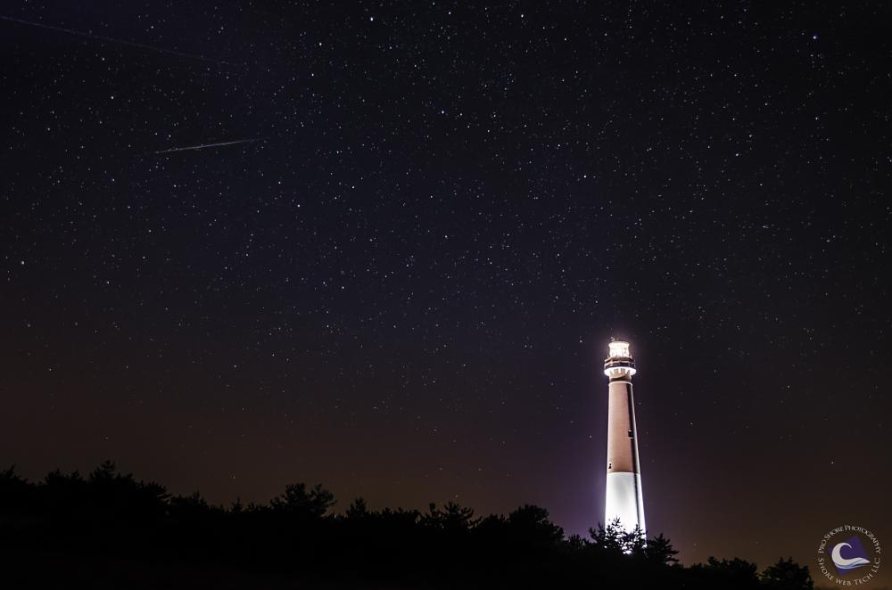 Photo in Landscape #lighthouse #shootingstar #night #stars