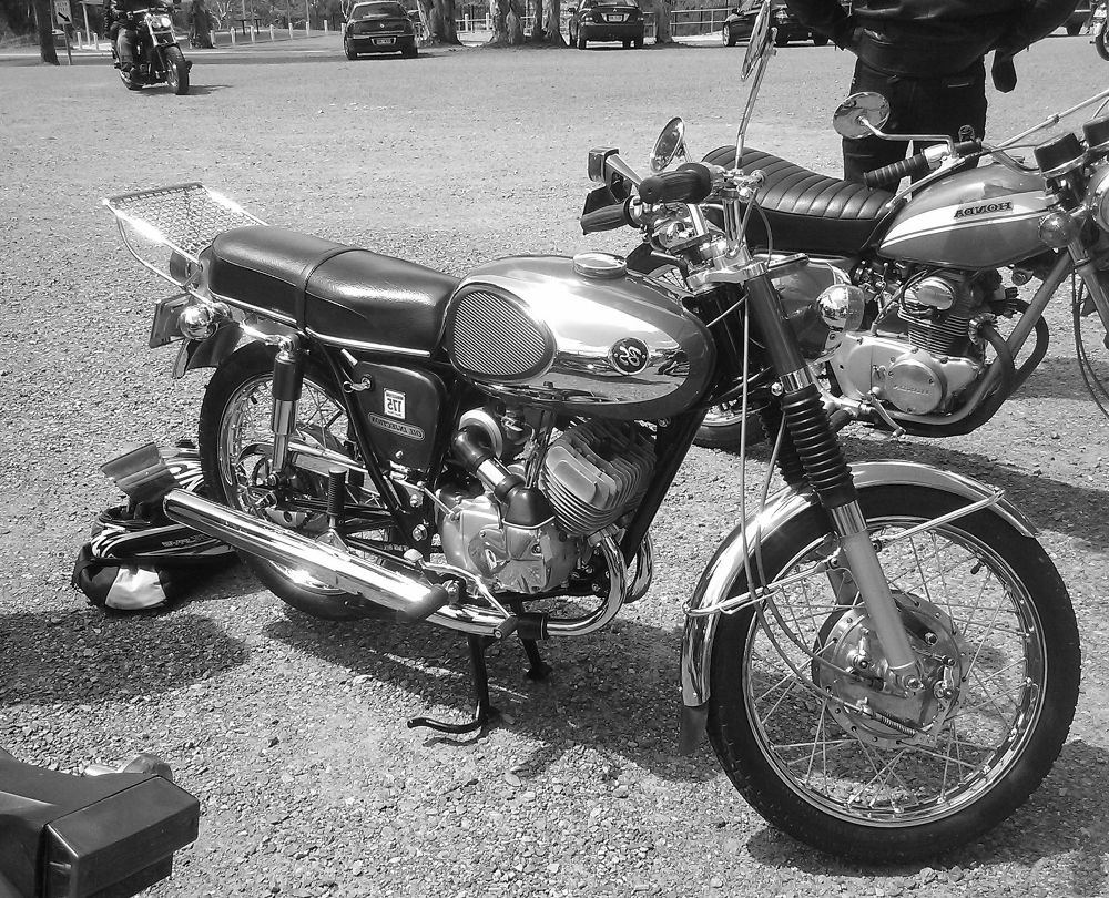 Photo in Vehicle #motorcycle #two stroke #bridgestone #1971