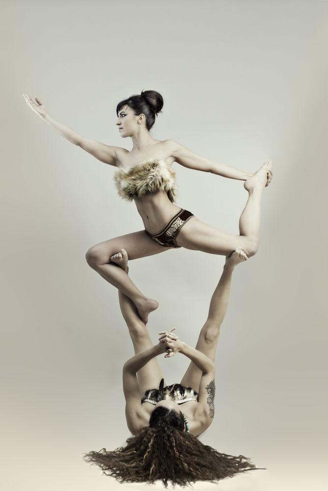 Photo in Random #beautiful #life #friends #two #sexy #women #group #yoga #imfstudio #attractive #acrobatic