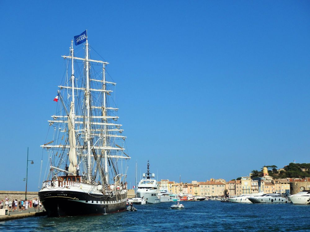 Photo in Sea and Sand #le-belem #3-masted-barque #port-de-st-tropez #olympustg-860