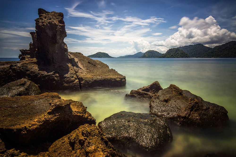 Photo in Landscape #rocks #beach #island #daylight #padang