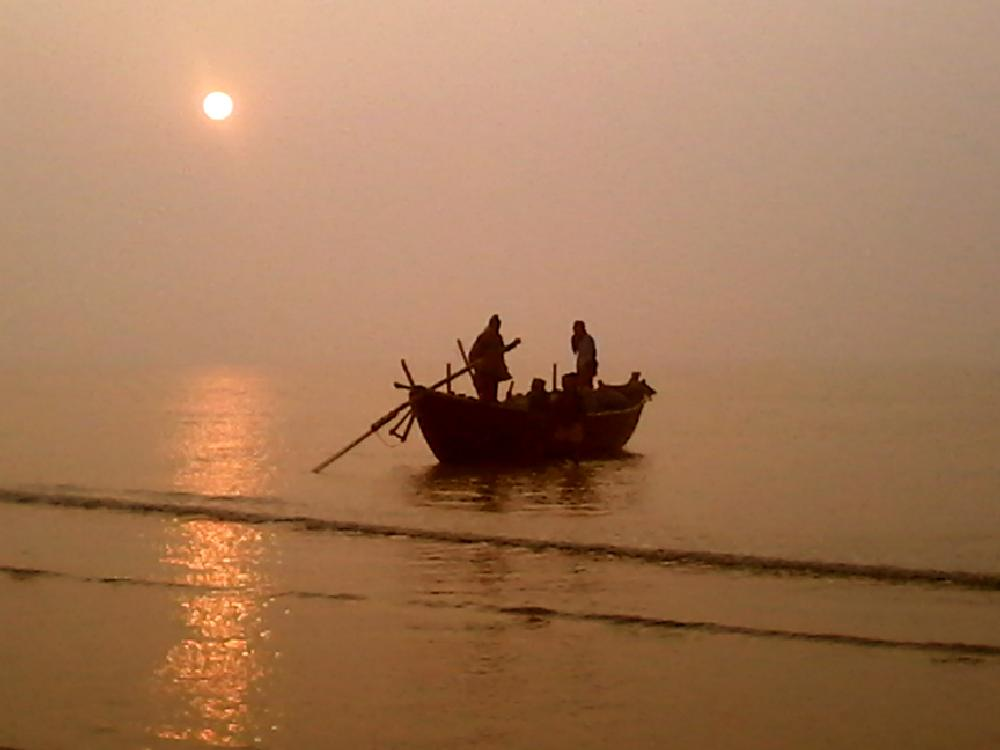 Photo in Sea and Sand #sea #fisher #morning #sun #boat