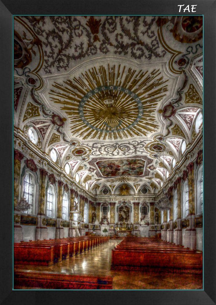 Photo in Interior #art #oil #painting #church #germany #interior #fine #munich #bavaria #canvas #burgerkirche