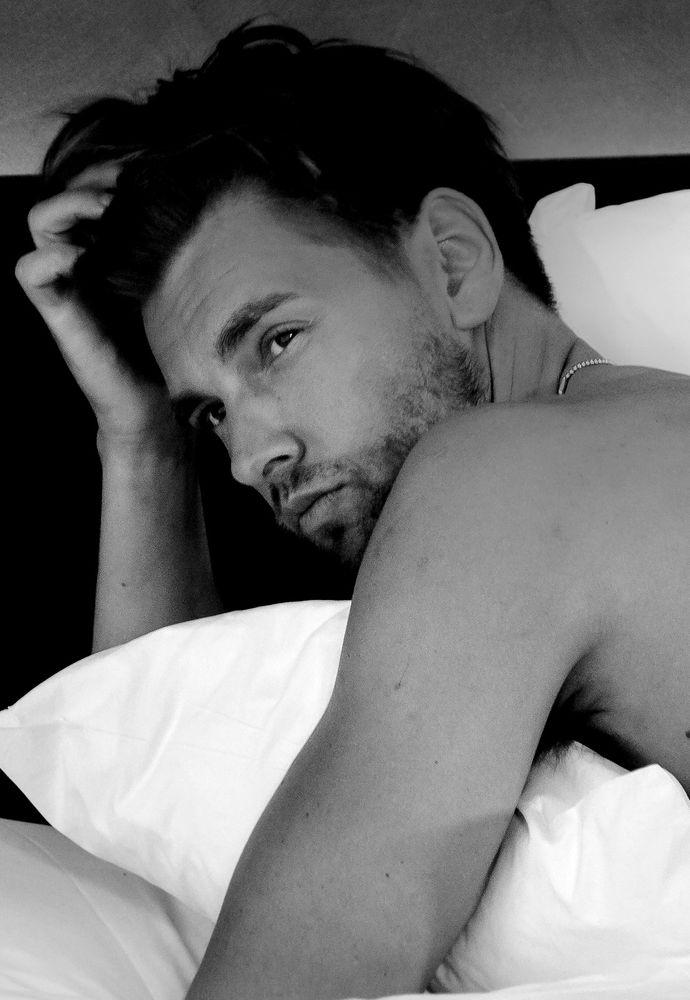 Photo in Portrait #portrait #guy #man #face #bed #glamour #monochrome #photographer #james fox photography #style #canon #melbourne #handsome #model #modeling #male model #fashion #portrait photography