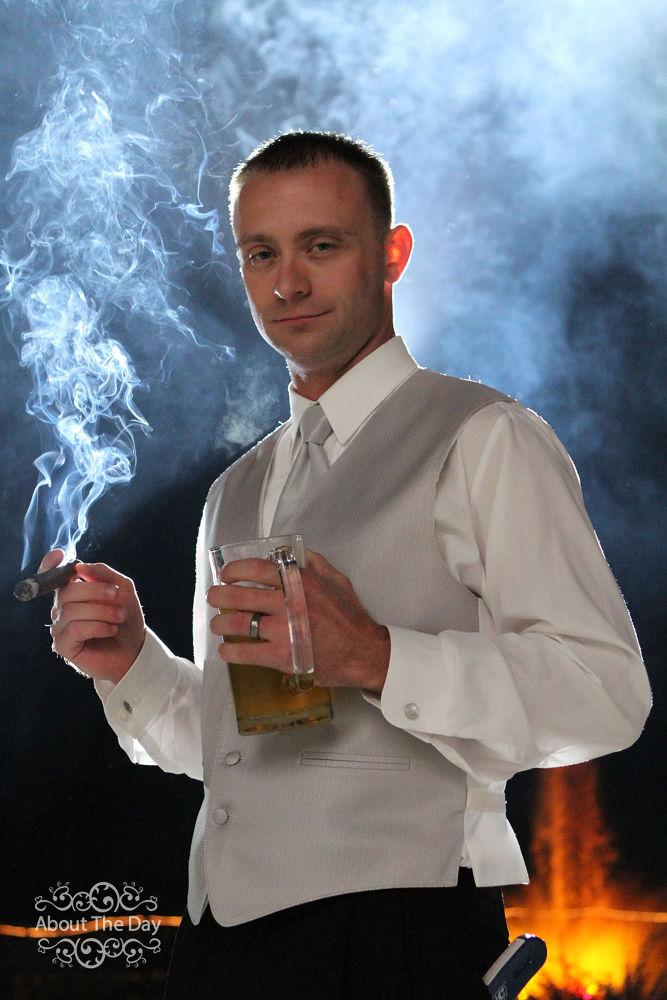 Photo in Wedding #smoking #wedding #groom #canon #lighting #dark