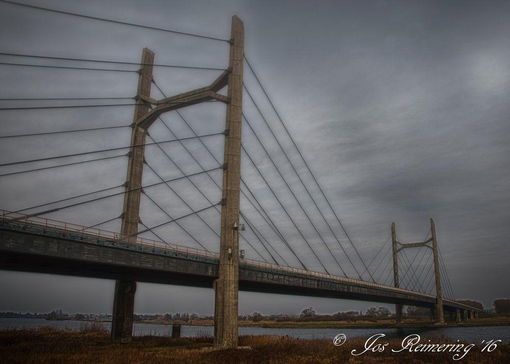 Photo in Landscape #bridge #brug #ijssel #rivier #river #kampen #the netherlands #holland #dutch #tuibrug