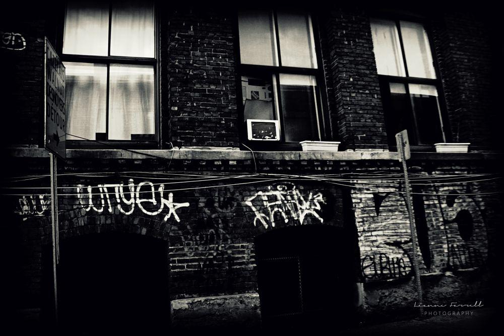 Photo in Black and White #graffiti #wall art #urban #city living #black and white