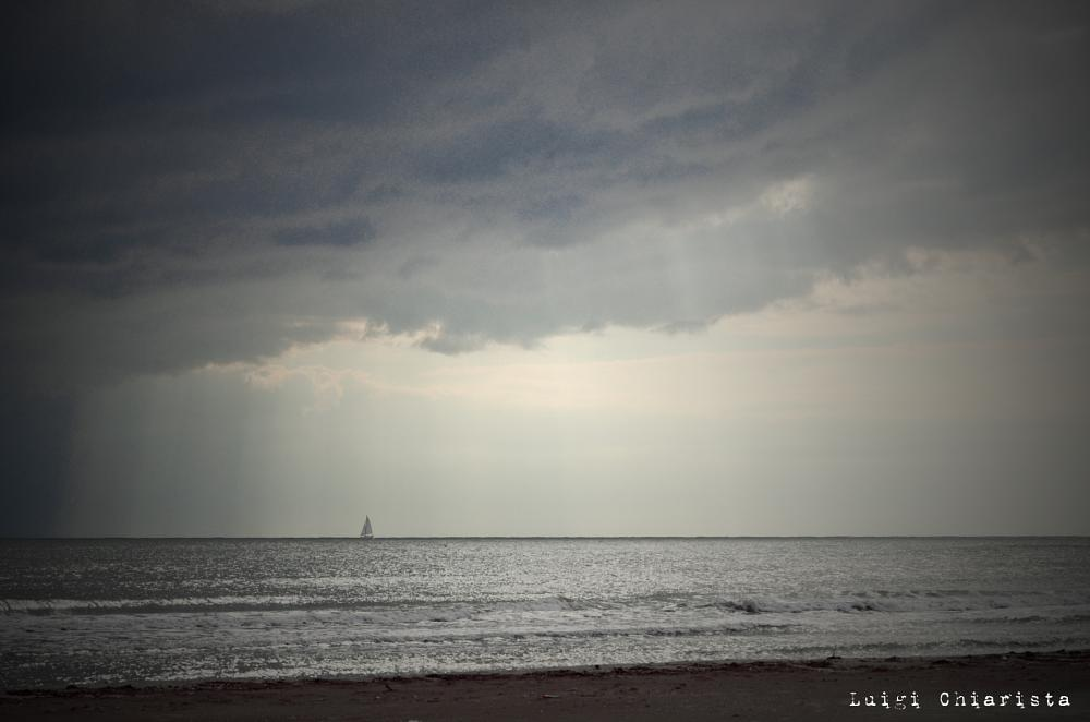 Photo in Sea and Sand #manfredonia #sea #clouds #cloud
